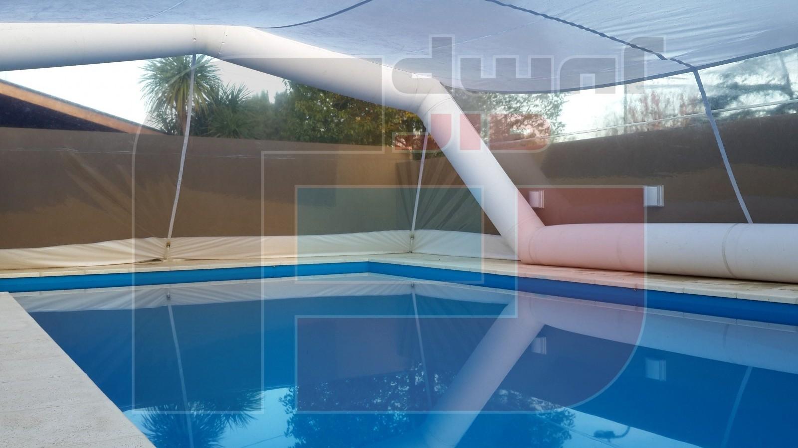 Cerramiento piscina cardales air jump argentina for Carpas para piscinas